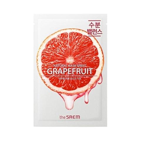 Маска для лица  с экстрактом грейпфрута Natural Grapefruit Mask Sheet