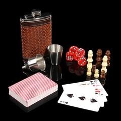 Набор Шахматы с флягой 230 мл (8 унций), 7 предметов, фото 2