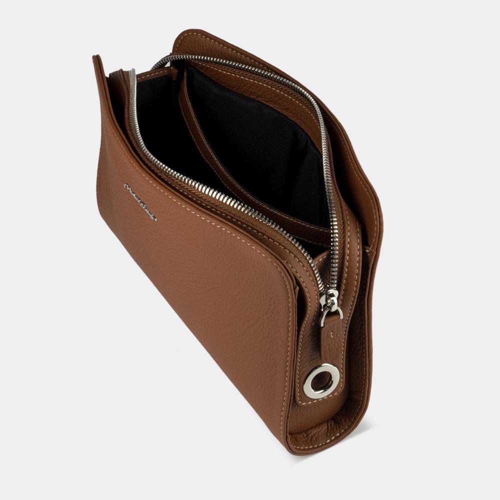 Женская сумка Emilie Easy из натуральной кожи теленка, цвета карамель