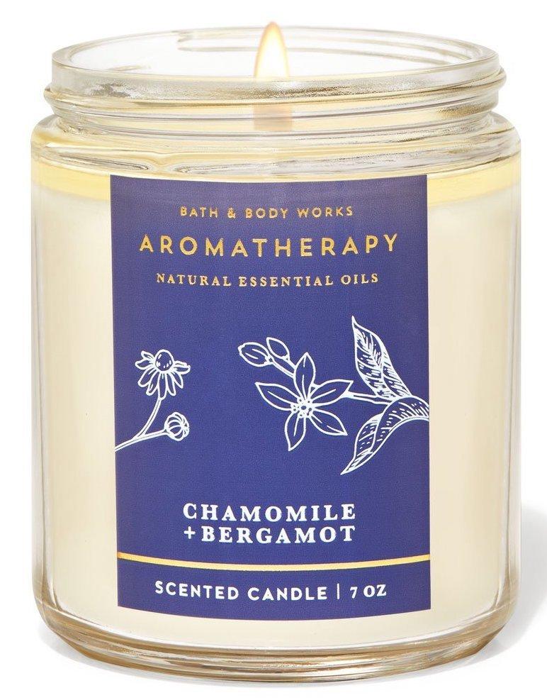Свеча Bath&BodyWorks Aromatherapy Chamomile + Bergamot 198 г.