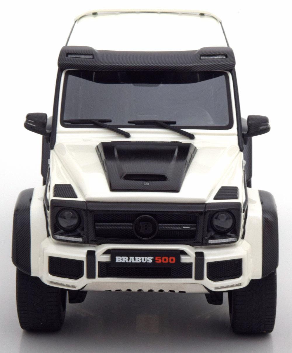 Коллекционная модель Mercedes-Benz Gelandewagen W463 Brabus 500 4x4 2017 White Metallic