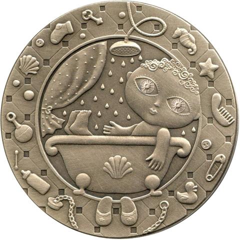 """1 рубль 2009 """"Знак зодиака - Водолей"""" Белоруссия"""