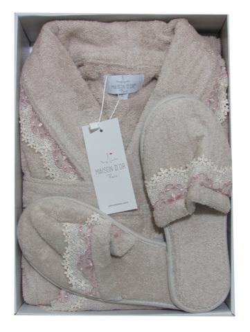 НАБОР  женский махровый халат с тапками VANESSA LONG  ВАНЕССА ЛОНГ Maison Dor Турция