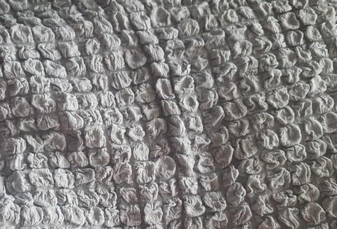 Комплект чехлов для дивана и двух кресел серый без оборки.