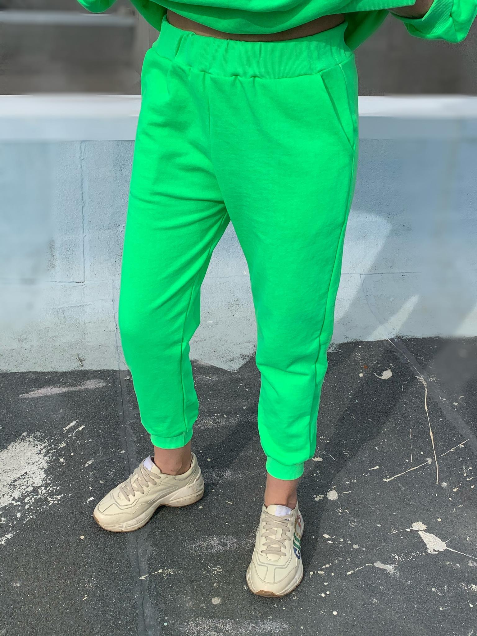 Костюм свитшот  и брюки PHILOSOPHY, салатовый неон