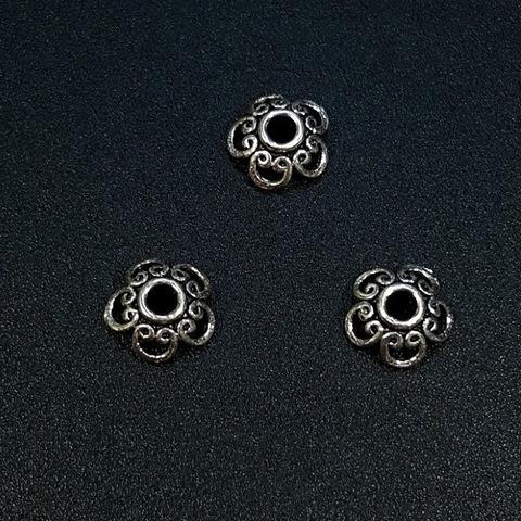Шапочка Медея 8 мм серебро 925 1 шт