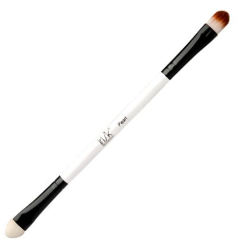 Кисть макияжная двухсторонняя Irisk Pearl для теней с аппликатором В507-05