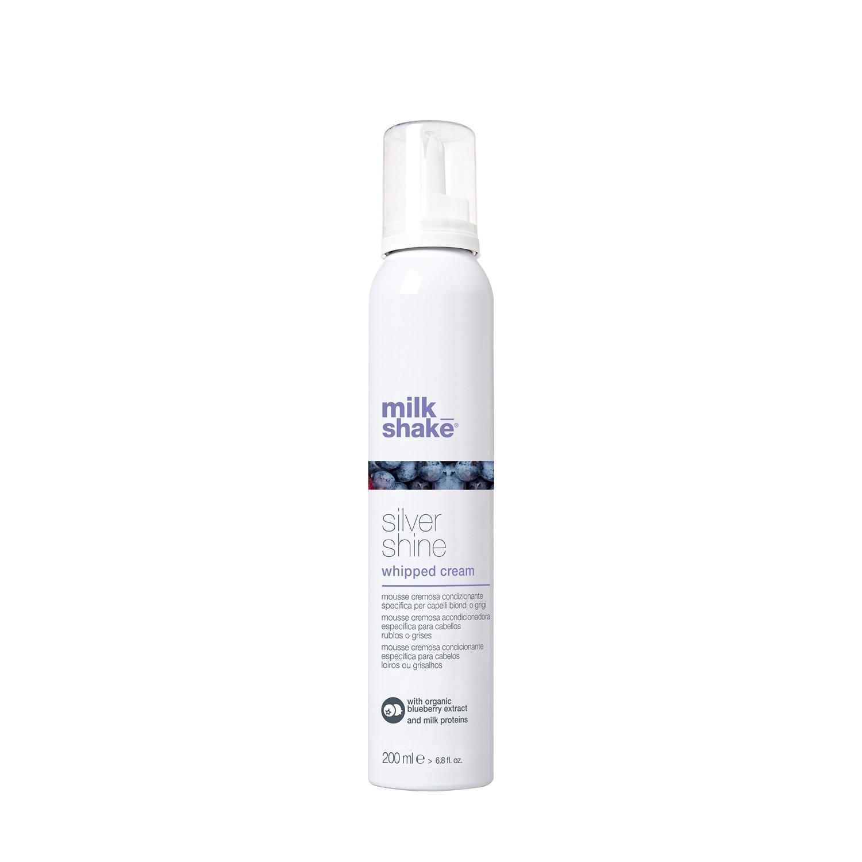 Пигментированные кондиционирующие крем сливки для осветленных волос / Milk Shake silver shine whipped cream 200 мл