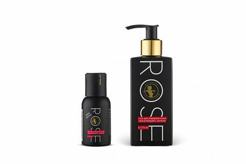 Rose гель для очищения кожи увлажняющий с шелком 45мл