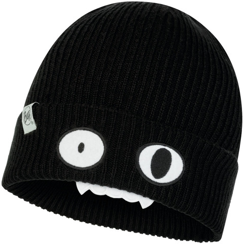 Вязаная шапка детская Buff Hat Knitted Funn Bat Black фото 1