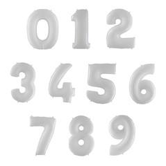 Фольгированные цифры белые