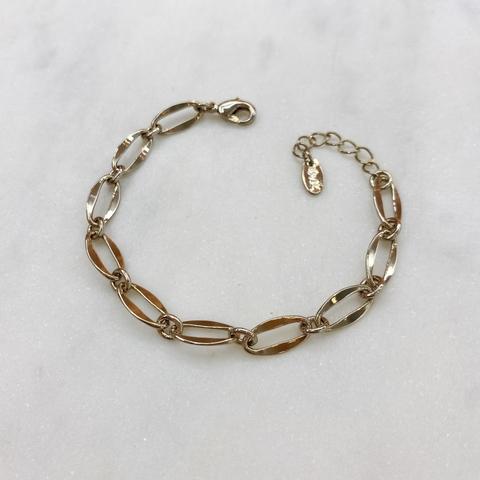 Браслет-цепь из овальных тонких звеньев (брасс)