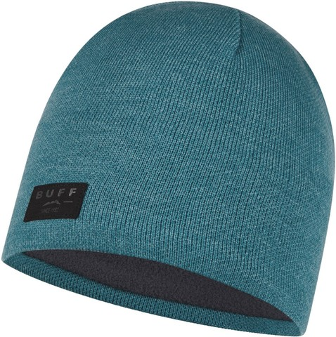 Шапка вязаная с флисом Buff Hat Knitted Polar Solid Dusty Blue фото 1