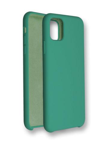 Чехол для iPhone 11 Софт Тач мягкий эффект с микрофиброй | салатовый