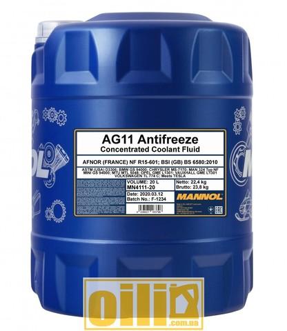 MANNOL 4111 Antifreeze AG11 Longterm 20л