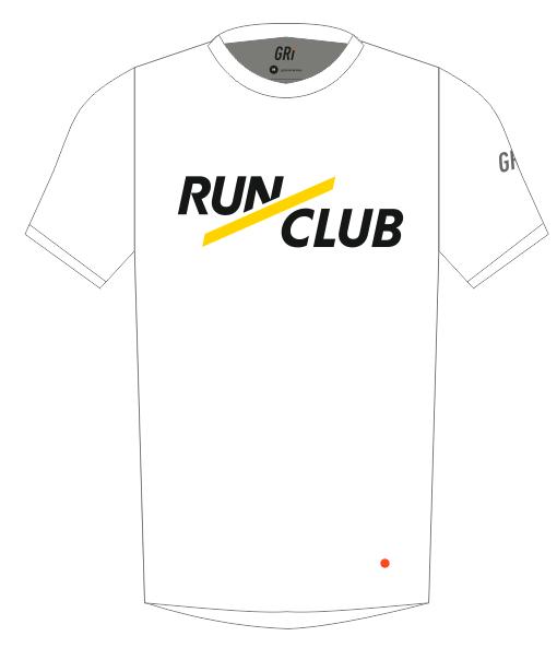 Футболка клубная, Gri RunClub, белая, женская