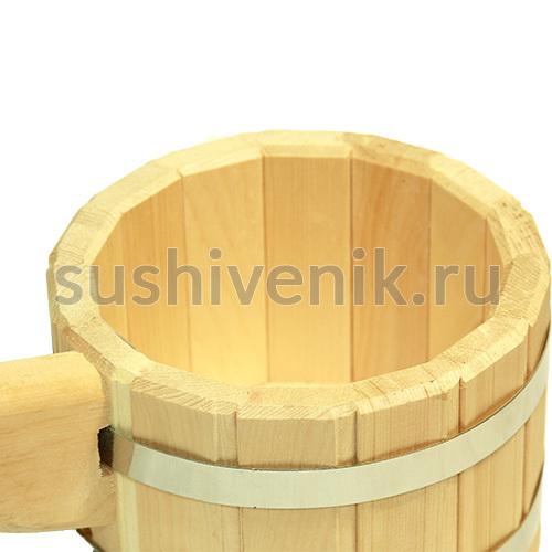 Ковш из дерева кедр, 1,5 л