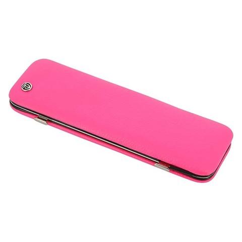 Маникюрный набор GD, 6 предметов, цвет розовый, кожаный футляр