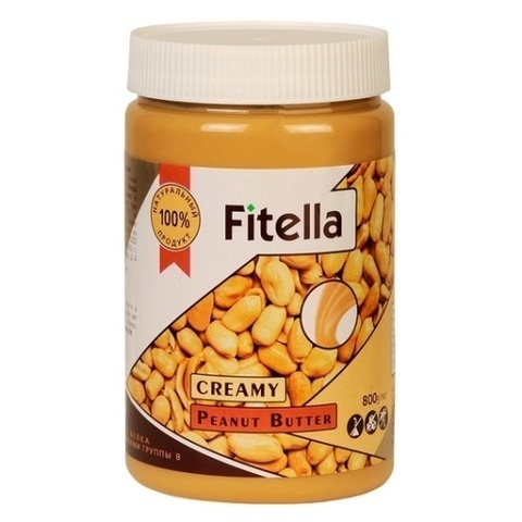 Паста Fitella арахисовая кремовая 800г
