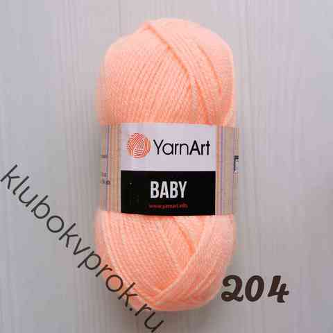 YARNART BABY 204, Светлый персик