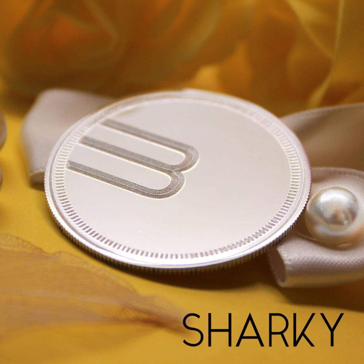 Сувенирная серебряная монета с гравировкой на заказ с лого
