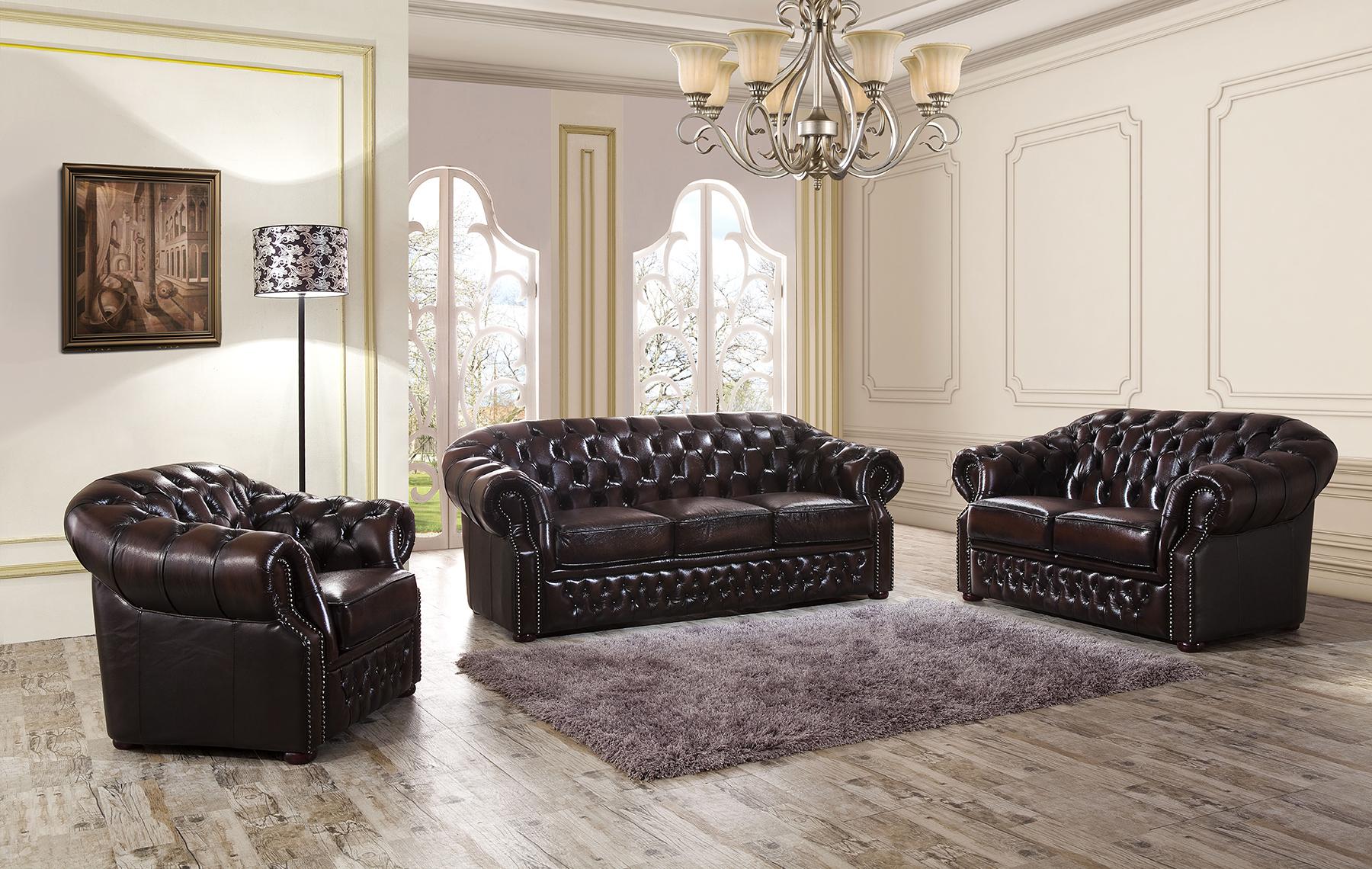 Комплект мягкой мебели ESF B-128 коричневый