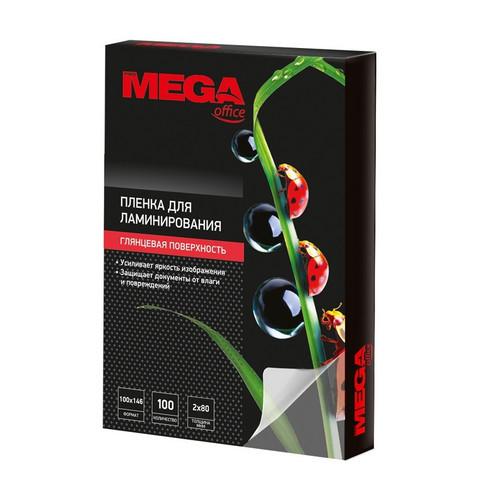 Пленка для ламинирования Promega office 100x146 мм 80 мкм глянцевая (100 штук в упаковке)