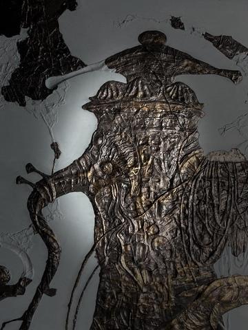 Панно из литьевого камня Жажда (105х80 см)  1/50