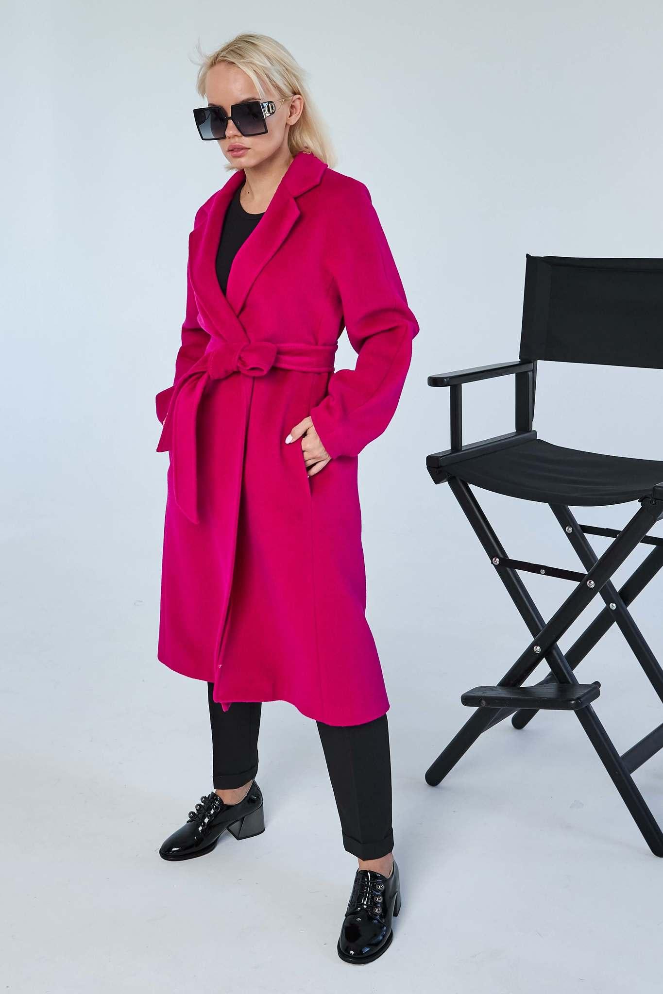 Пальто-халат длины миди