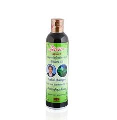 Лечебный тайский шампунь для роста и против выпадения волос Джинда Herbal Hair Shampoo Fresh mee-leaf+Butterfly Pea