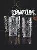 PUNK - Набор стаканов 4 шт. высоких 390 мл хрустальное стекло