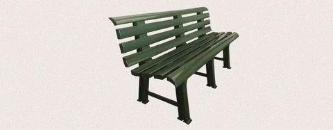 Пластиковая скамья полимерная темно-зеленая