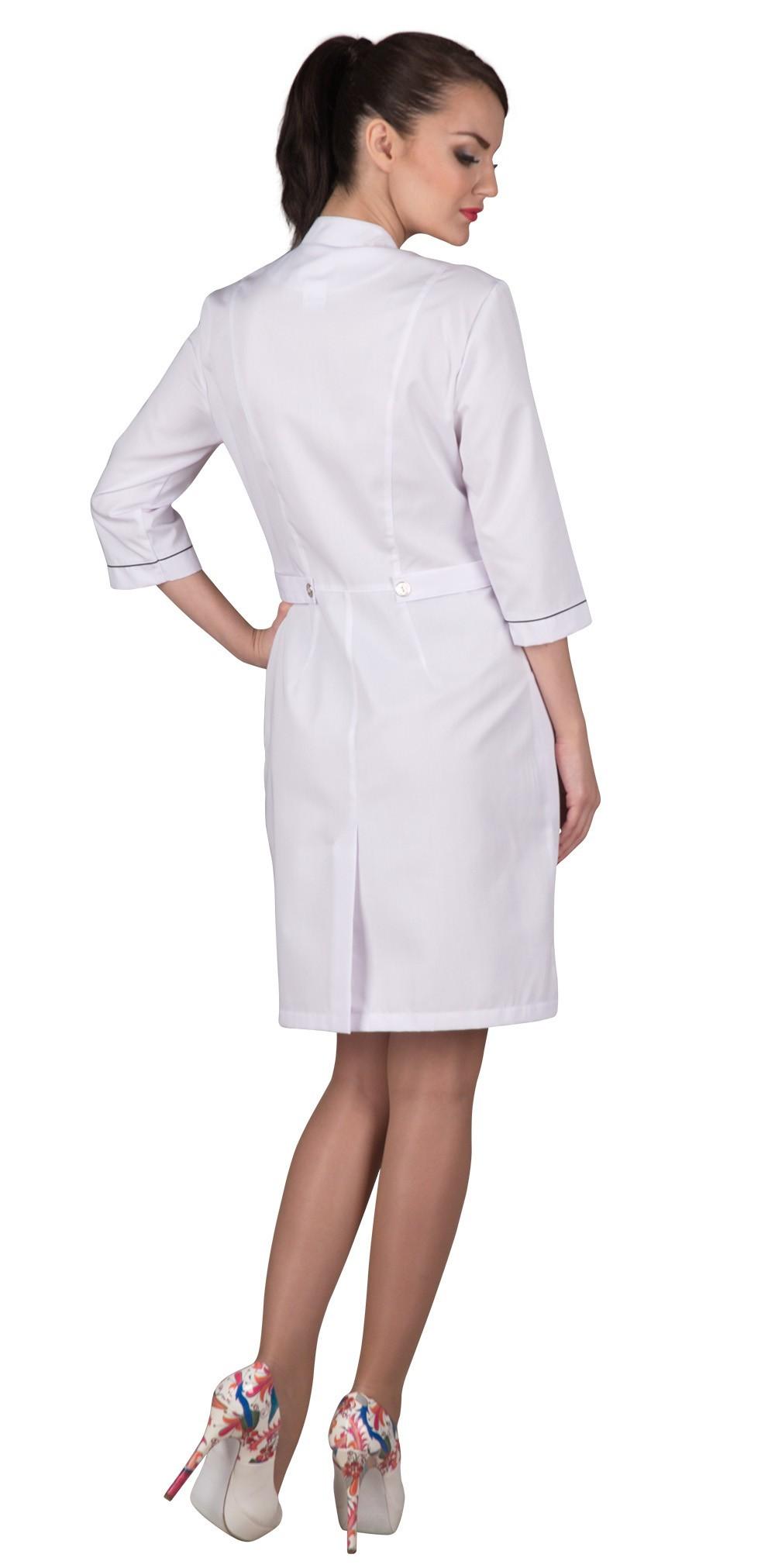 Белый медицинский женский халат Х-226 сатори