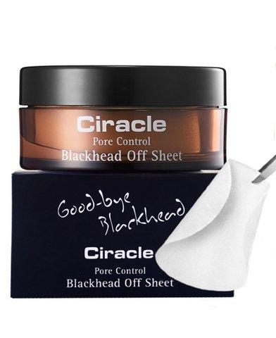 Ciracle Набор очищающих салфеток для удаления черных точек Pore Control Blackhead Off Sheet