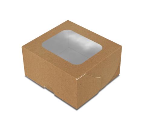 Коробка для суши 100х90х50 мм мини крафт