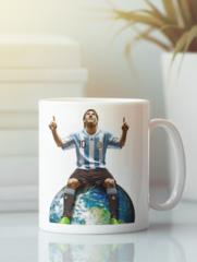 Кружка с изображением Лионель Месси (Lionel Messi) белая 0011
