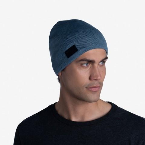 Шапка вязаная с флисом Buff Hat Knitted Polar Solid Dusty Blue фото 2