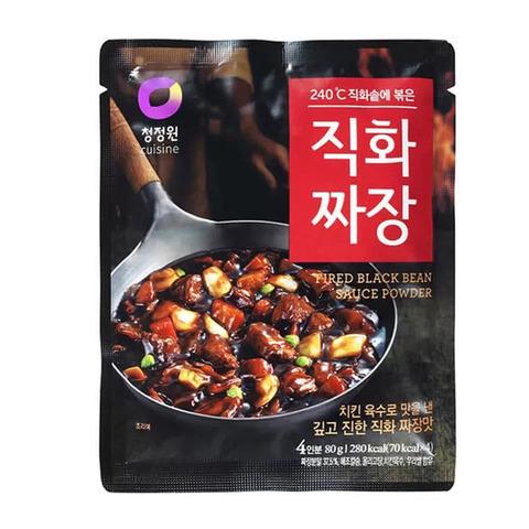 Основа для приготовления соуса Daesang Fried black bean sauce powder из черных соевых бобов 80 гр