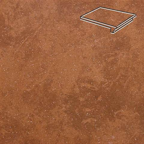 Stroeher - Keraplatte Roccia 841 rosso 340x240x12 артикул 9240 - Клинкерная ступень - флорентинер