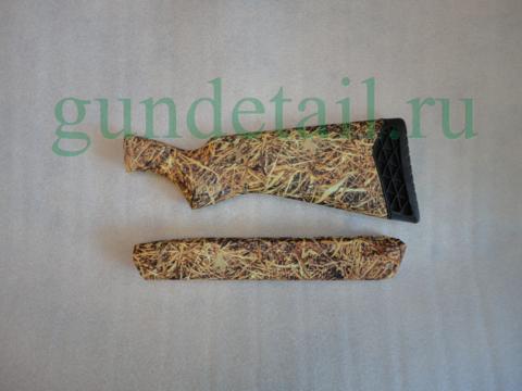 Приклад и цевье пластик КАМЫШ камуфляж МР155