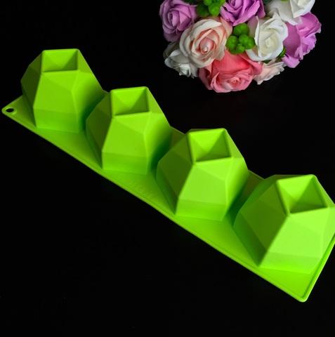 Силиконовая форма для выпечки ГЕКСАГОН 4в1 (Диаметр 8см. Высота 6см)