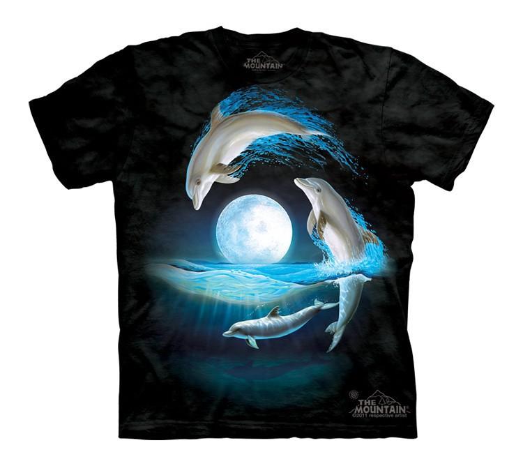 Футболка детская Mountain с изображением дельфинов - Over the Moon