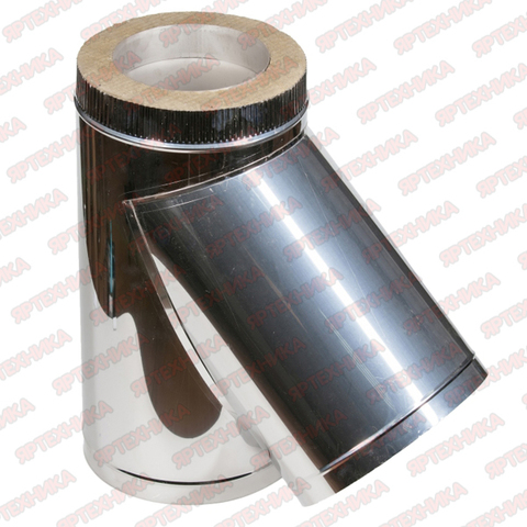 Тройник-сэндвич 135° d150х210мм (430/0,5мм+оцинк) Ferrum