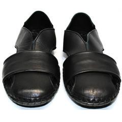 Мужские красивые черные босоножки Luciano Bellini 801 Black.