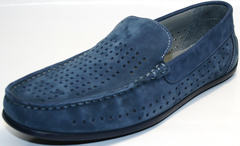 Синие мужские мокасины IKOC 1352-2 Blue.