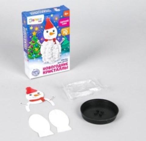 068-1466 Набор для опытов «Чудесные кристаллы», снеговик