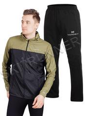 Беговой ветро- и влагозащитный костюм Nordski Rain Motion Olive/Black мужской
