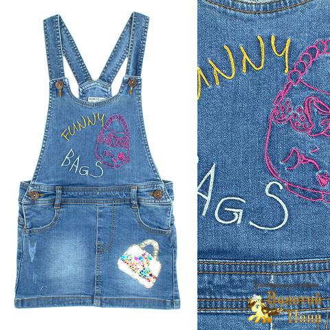 Сарафан джинсовый девочке (3-7) 210523-OP1147.3
