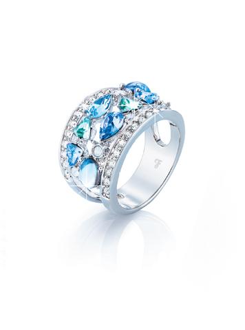 Кольцо c кристаллами Swarovski, ювелирный сплав