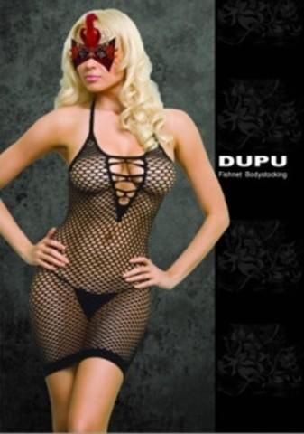 Платье сетка со шнуровкой черное One Size 02564OS